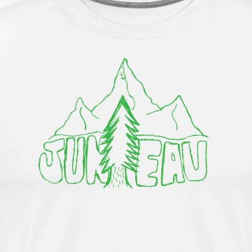 Juneau Sketch Design (Green) - Men's Premium T-Shirt