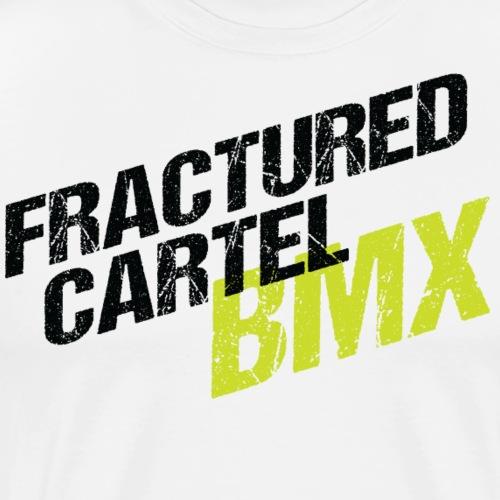 Fractured Cartel BMX Black & HiVis - Men's Premium T-Shirt