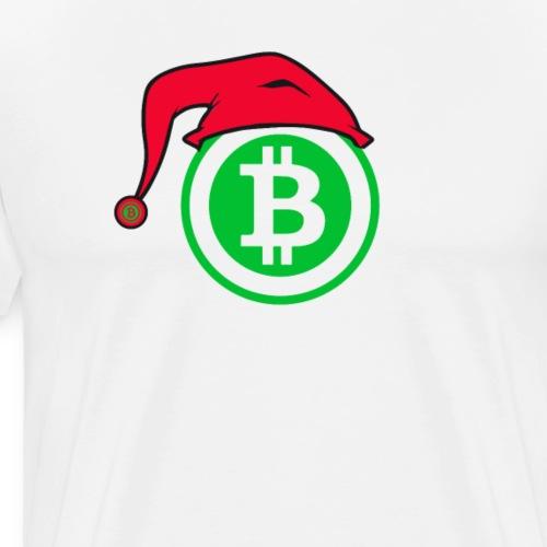 Christmas Bitcoin Santa Tshirt - Men's Premium T-Shirt