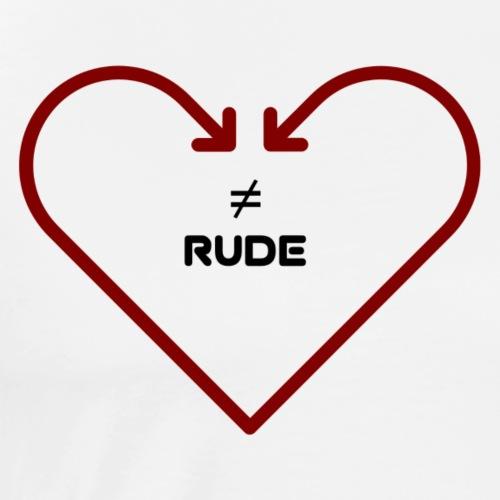 love is not rude - Men's Premium T-Shirt
