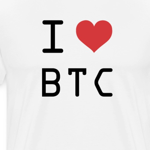 I HEART BTC (Bitcoin) - Men's Premium T-Shirt