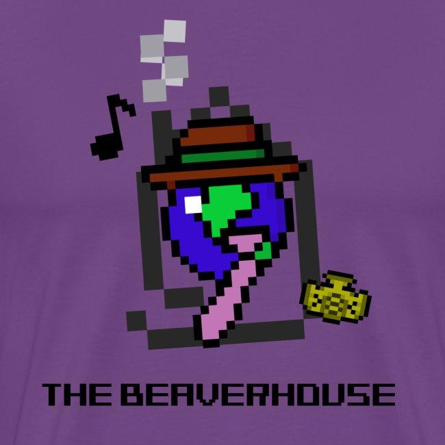 BeaverhouseLogo8BitShirt png