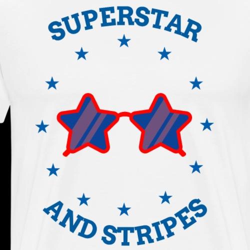 Superstar and Stripes   USA Sunglass - Men's Premium T-Shirt
