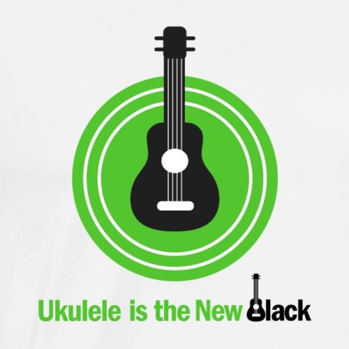 Ukulele Is The New Black - for Light Background - Men's Premium T-Shirt
