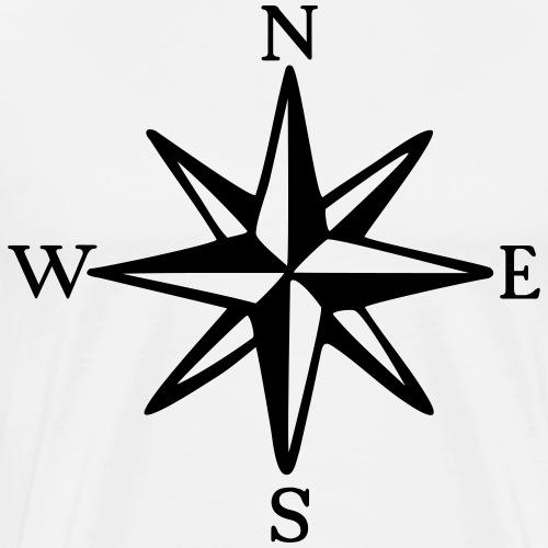 Compass Rose NESW Boating & Sailing - Men's Premium T-Shirt