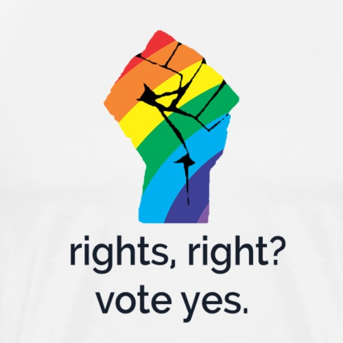 Rights, Right? Vote Yes! - Men's Premium T-Shirt