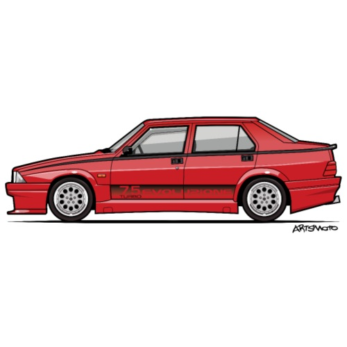 Alfa Romeo 75 Turbo Evo - Men's Premium T-Shirt