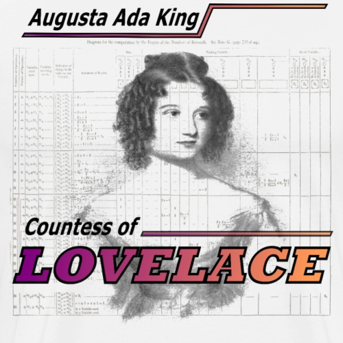 Augusta Ada King, Countess of LOVELACE - Men's Premium T-Shirt