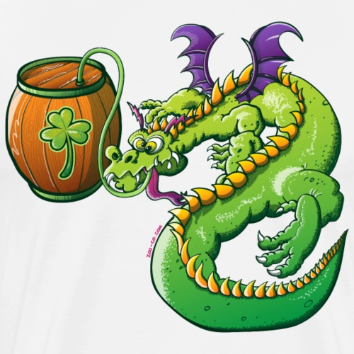 Drunk St Patrick's Day Dragon - Men's Premium T-Shirt