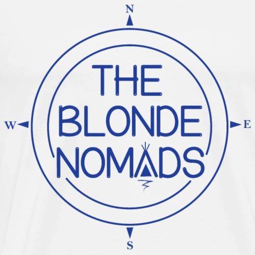 The Blonde Nomads Blue Logo - Men's Premium T-Shirt