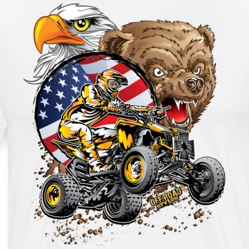 Motocross ATV USA - Men's Premium T-Shirt