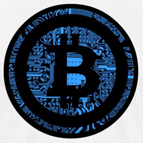 Blue Bitcoin - Men's Premium T-Shirt