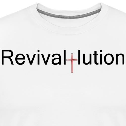 Revivallution Black Logo - Men's Premium T-Shirt