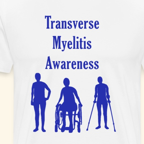 Transverse Myelitis Awareness - Blue - Men's Premium T-Shirt