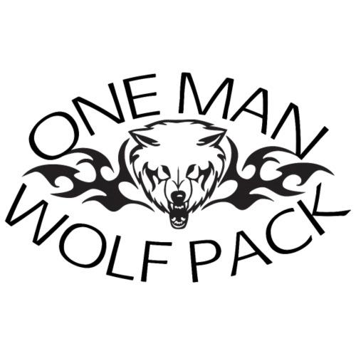 One Man Wolf Pack - Design - Men's Premium T-Shirt