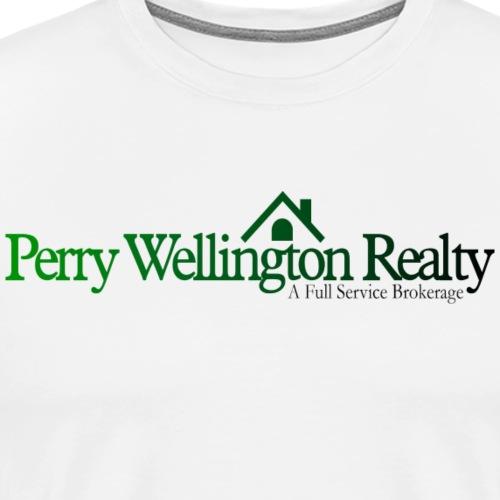 Perry Wellington logo green to black - Men's Premium T-Shirt