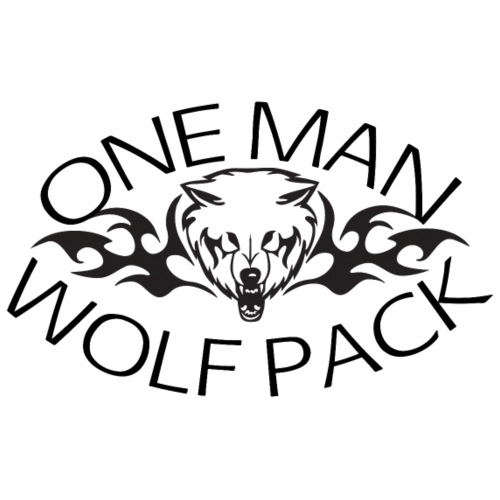 One Man Wolf Pack - Design - Men's Premium T-Shirt