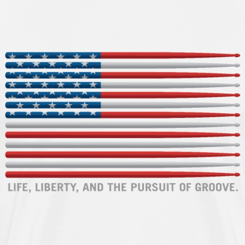American Drummer Drumstick Flag - Men's Premium T-Shirt