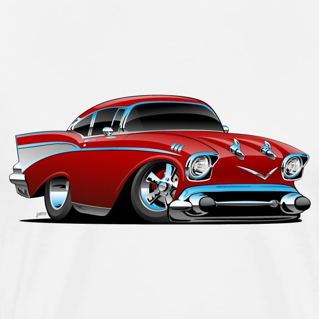 Classic hot rod 57 muscle car