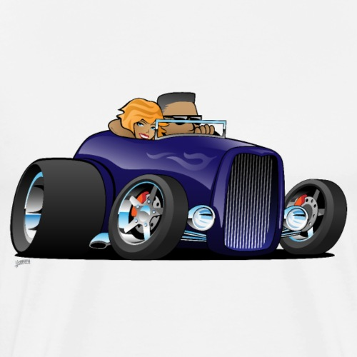 Highboy hot rod deep purple roadster - Men's Premium T-Shirt