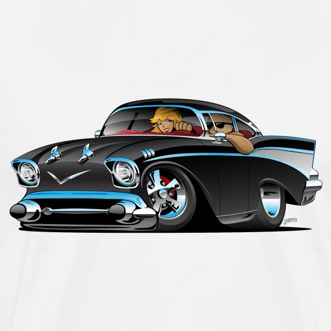Classic hot rod fifties muscle car