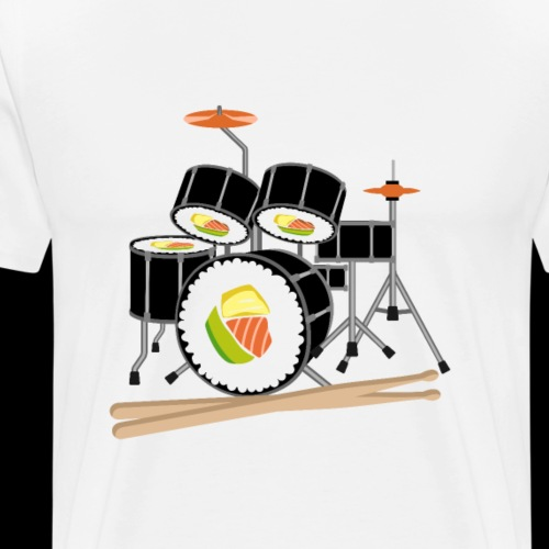 Sushi Roll Drum Set - Men's Premium T-Shirt