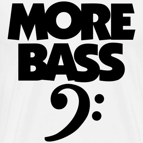 More Bass (White) Bassist - Men's Premium T-Shirt
