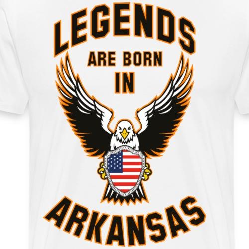 Legends are born in Arkansas - Men's Premium T-Shirt