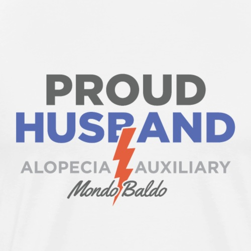 Alopecia Auxiliary - Proud Husband - Men's Premium T-Shirt