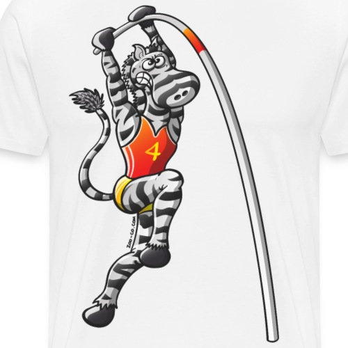Olympic Pole Vault Zebra - Men's Premium T-Shirt