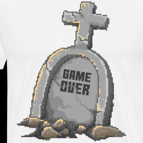 Game Over Gamer | Funny Pixelart - Men's Premium T-Shirt
