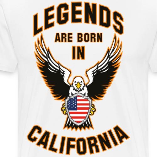 Legends are born in California - Men's Premium T-Shirt