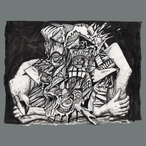 In The Grip by Brian Benson - Men's Premium T-Shirt