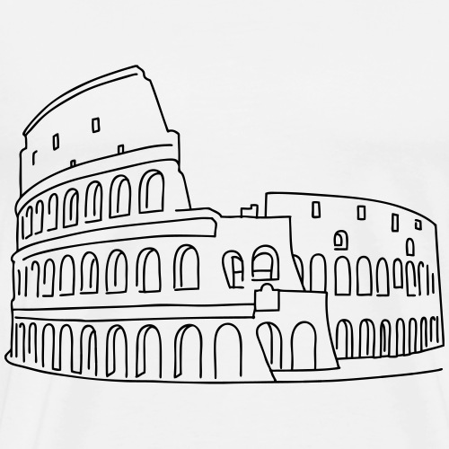 Colosseum in Rome - Men's Premium T-Shirt