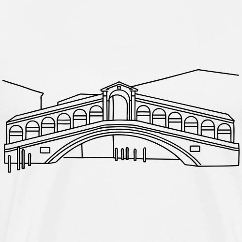 Rialto Bridge Venice - Men's Premium T-Shirt