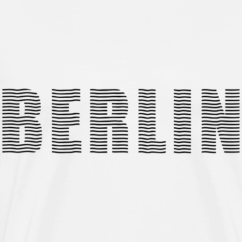 BERLIN line-font - Men's Premium T-Shirt