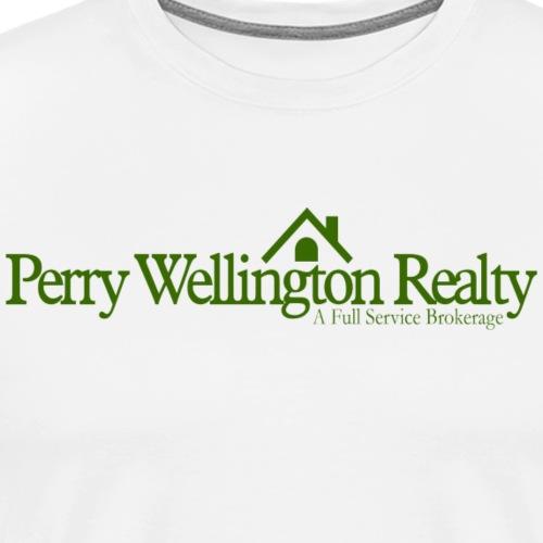 Perry Wellington logo - green - Men's Premium T-Shirt