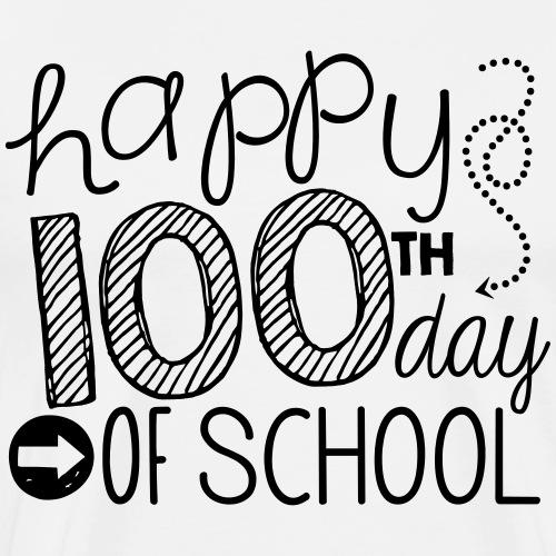 Happy 100th Day of School Arrows Teacher T-shirt - Men's Premium T-Shirt