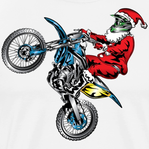 Motocross Santa Claus - Men's Premium T-Shirt