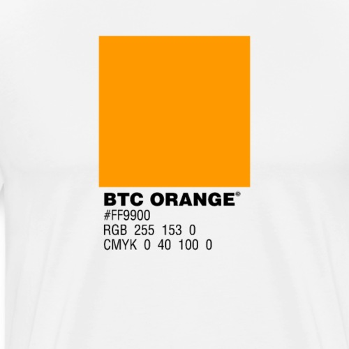 BTC Orange (Bitcoin Tshirt) - Men's Premium T-Shirt