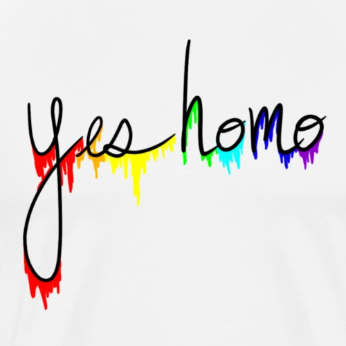 Yes Homo Rainbow Drip - Men's Premium T-Shirt