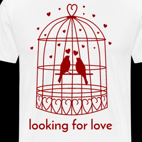 Looking for love | Lovebirds - Men's Premium T-Shirt