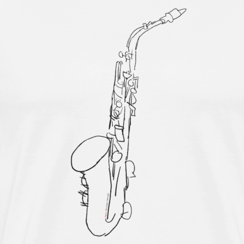 Alto Saxophone · black - Men's Premium T-Shirt