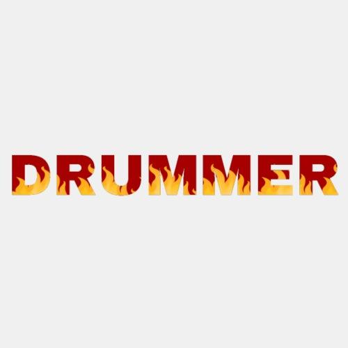 Drummer In Flames 3 - Men's Premium T-Shirt