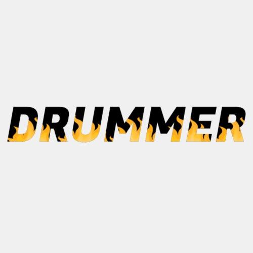 Drummer In Flames 2 - Men's Premium T-Shirt