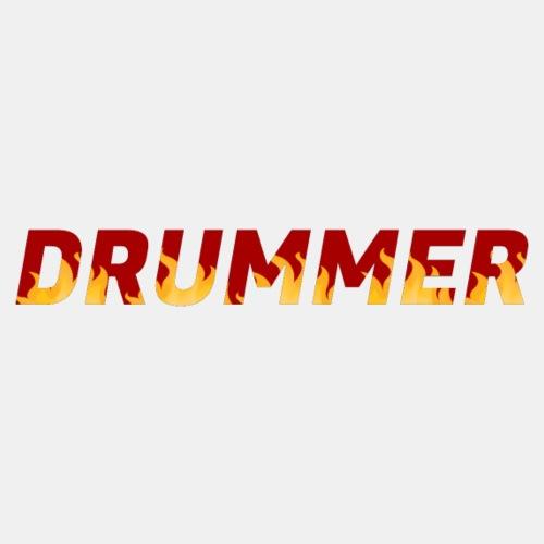 Drummer In Flames 4 - Men's Premium T-Shirt