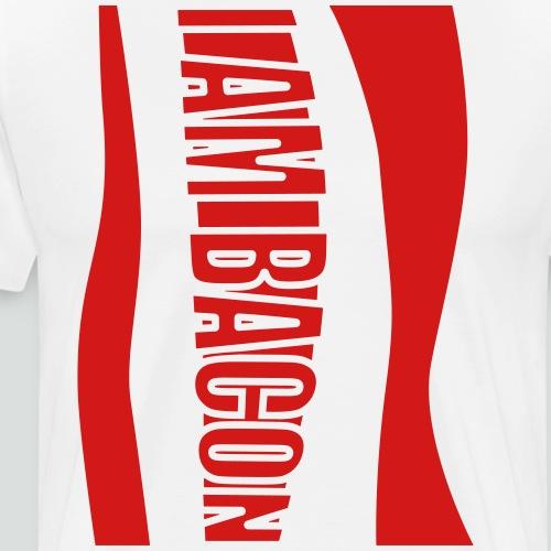 I Am Bacon Halloween Costume FRONT - Men's Premium T-Shirt
