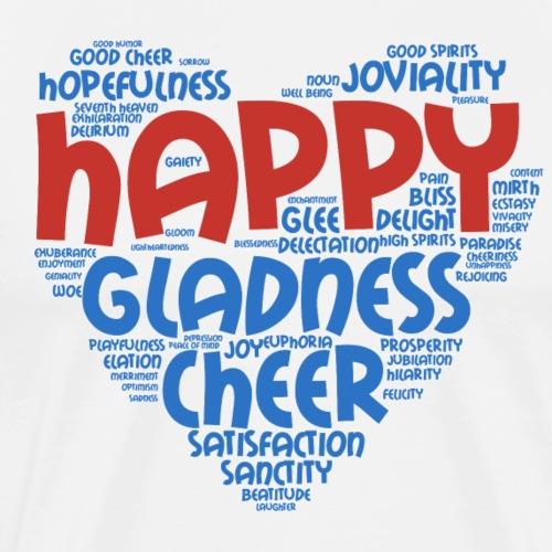 joyful happy gladness cheer words cloud