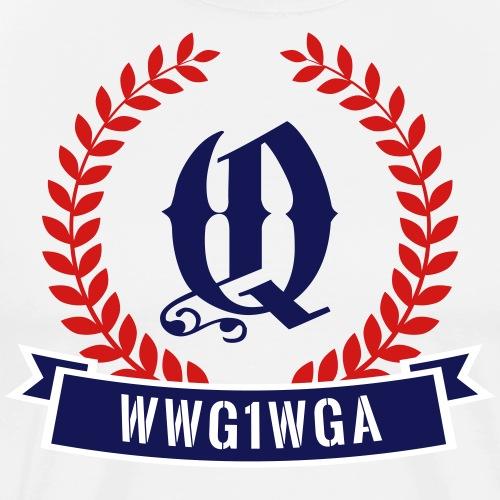 WWG1WGA Q Badge V2 - Men's Premium T-Shirt
