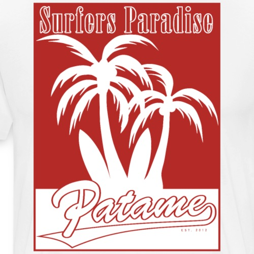 Patame Surfers Paradise Red - Men's Premium T-Shirt